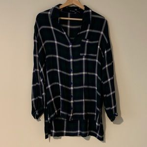 Blu Pepper Side Slit Button-down Shirt